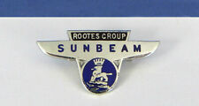 VINTAGE ROOTES GROUP SUNBEAM ENAMEL PIN BADGE BY FATTORINI & SONS