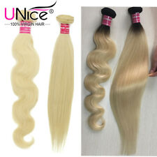 Blonde 613 T1B/613 Brazilian Straight Body Wave Remy Human Hair Wefts 1 Bundles