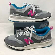 NWB New Balance Mens White Pink Teal Blue Color Block Shoes Sz 9 997H Sneakers