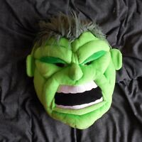 THE INCREDIBLE HULK BACK PACK GREEN SOFT PLUSH BAG EMO KIDS MARVEL NOVELTY TOP