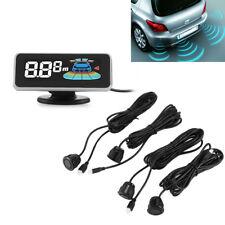 LCD Digital Car Dash Parking Sensor Kit Rear Front Radar System Backup Reverse