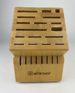 Wusthof 25 Slot Base Wooded Knife Block Good Used Condition
