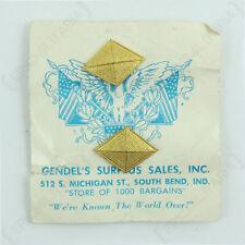 US Finance Diamond Collar Disc Pair - American Badge Insignia Soldier Uniform