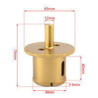 40mm Vacuum Brazed Diamond Core Drill Bit For Concrete Stone Drilling Carving
