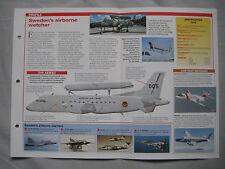 Aircraft of the World Card 139 , Group 5 - Saab Tp 100 & 340 AEW&C