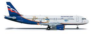 Herpa 555944 Aeroflot Airbus A320 1:200 Scale 2014 Sochi Olympics Livery New