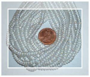 AL384 CZECH 4x2mm Glass RONDELLE Beads-CRYSTAL AB-100