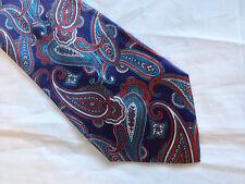 58 x 3.75 Blue Red White Tie Necktie ESSEX ROW ~ FREE US SHIP (11584)