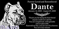 Personalized Cane Corso Italian Mastiff Dog Pet Memorial 12x6 Granite Headstone