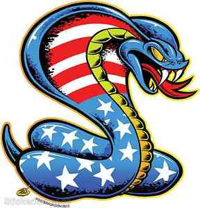 American Cobra Reptile Sticker Decal Dirty Donny DD47R Right Facing