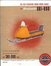 RARE VINTAGE 1964 SKI-DOO SNOWMOBILE SALES BROCHURE 4 PAGES VERY NICE  (980)