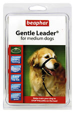 BEAPHAR GENTLE LEADER FOR MEDIUM DOGS, M, BLACK LEAD