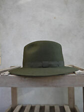 Crushable Trilby Hat by Olney in Olive Green - 100% Fur Felt, UK made, S/M/L/XL