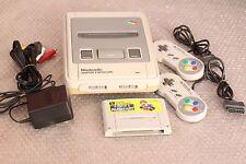 Super Famicom console set 2 controllers AC Adapter SFC Nintendo snes Mario Kart