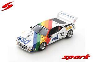 S6405 Spark: 1/43 BMW M1 #72 24H Le Mans 1981 P-F Rousselot - Sérvanin - Ferrier