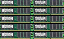 LOT OF TEN 512MB DDR MEMORY RAM PC3200 NON-ECC DIMM