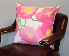 "Pink Peony Cushion Cover 18""x18"""