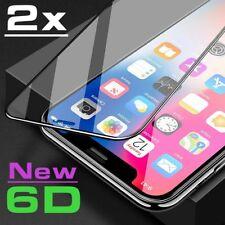 2 x 6D Schutzglas iPhone X Curved Full Cover 9H Hartglas Echt Glas Schutzfolie