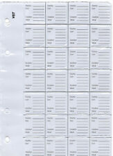Small VST PATHTAGS STOCK ALBUM Refill PAGES Pack of 30 x 28 POCKET PAGES