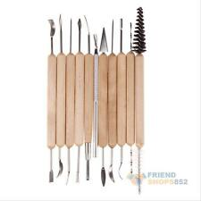 11pcs Clay Sculpting Wax Carving Pottery Tools Shaper Modeling Chiset Woodcut