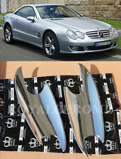 x2 ROYAL CHROME Luxurious Door Handle Scoops for Mercedes Benz SL Class R230 AMG