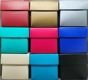 Block Colour Gift Box & Lid Square Rectangle Matte Laminate Gloss, Choose Colour