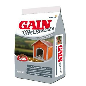 Gain Maintenance Greyhound Whippet Dog Food 15Kg with FREE NEXT DAY DELIVERY -