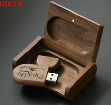 USB Pen Drive 3.0 Logo Wooden Box 8GB 16GB 32GB 64GB Flash U Disk Flash Lanyard
