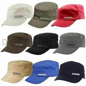 100% Authentic Mens KANGOL Cotton Twill Army Cap 9720BC Sizes S/M L/XL XXL
