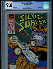 Silver Surfer #34 1990 CGC 9.6 NM+ Marvel Comics  Thanos Returns to Life K12
