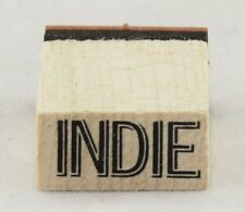 Indie Wood Mounted Rubber Stamp Inkadinkado NEW gift tag art party fun original