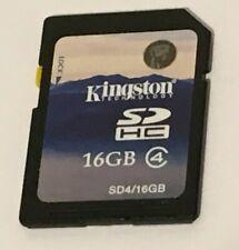 GENUINE & ORIGINAL KINGSTON 16 GB SD CARD