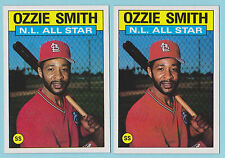 Lot of (2) 1986 Topps All-Star Ozzie Smith St Louis Cardinals #704 (KCR)