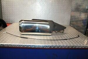 19 Kawasaki ZX6R / ZX636 / ZX6-R Clean Exhaust Muffler Head Shield OEM Part