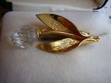 Spillina swarovski metallo tono oro