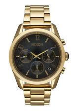 Nixon Bullet Chrono 36 Women's Watch Gold/Black A949-510- New in Box