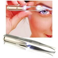 LED LIGHT TWEEZERS - SLANT with CASE- DIY / PROFESSIONAL - EASY & NON SLIP GRIP