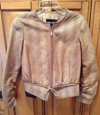 Giorgio Armani Black Label Women's Lambskin Leather Jacket Coat Sz 40 (US Sz 4)