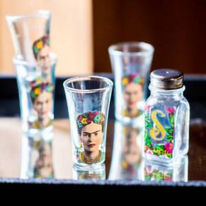 Frida Kahlo Tequila Slammer Set Shot Glasses + Salt Shaker NEW FREE P&P (S)