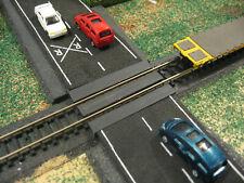 N SCALE TRAIN TRACK 24 FOOT BLACK GRADE CROSSING HIGHWAY STREET  FREE SHIPPING