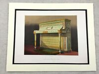 1862 Print Upright Piano Wright & Mansfield Victorian Antique Chromolithograph