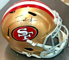 SF 49ers Frank Gore Signed Riddell Full Size Replica Helmet - Beckett BAS COA