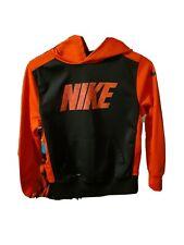 Boys nike black & red medium hoodie logo pockets Dri-Fit longsleeve