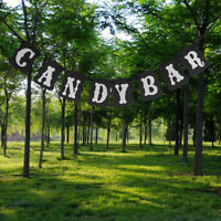 Kraft Paper CANDY BAR Hanging Bunting Banner Wedding Party Garland Black