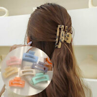 Details about  /Hair Claw Crab Clamp Love Heart Hair Clip Transparent Geometric Hairpin Big.Size