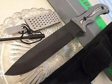 Schrade Frontier Extreme Survival Bowie Knife Micarta Sharpener Fire Rod SCHF37M