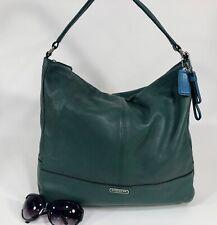 COACH PARK Ivy Green Leather Large Hobo Shoulder Satchel Purse Bag 23293