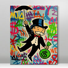 Alec Monopoly Money Art graffiti Acrylic Painting Wall art Pictures Street art