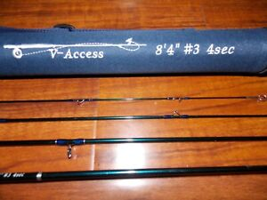 3 WT V-Access  Fly Fishing Rod   8 Ft 4 in    4 Sec. with Tube  FREE  SHIPPING