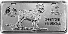 Boston Terrier Pewter Vanity Plate